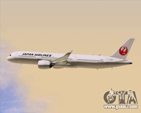 Airbus A350-941 Japan Airlines for GTA San Andreas upper view