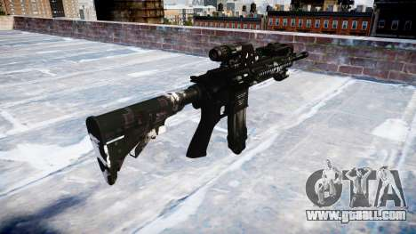 Automatic rifle Colt M4A1 ghosts for GTA 4 second screenshot
