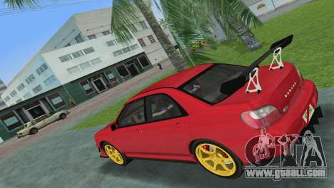 Subaru Impreza WRX 2002 Type 4 for GTA Vice City right view
