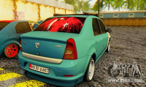 Dacia Logan 1.6 MPI Tuning for GTA San Andreas back left view