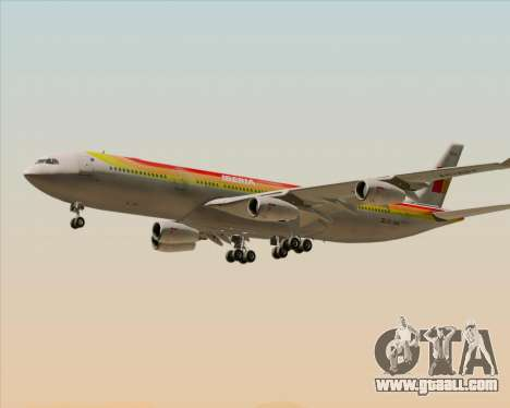 Airbus A340 -313 Iberia for GTA San Andreas bottom view