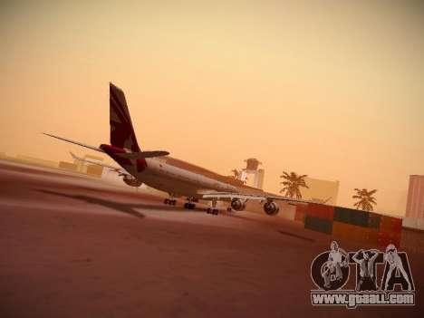 Airbus A340-600 Qatar Airways for GTA San Andreas back left view