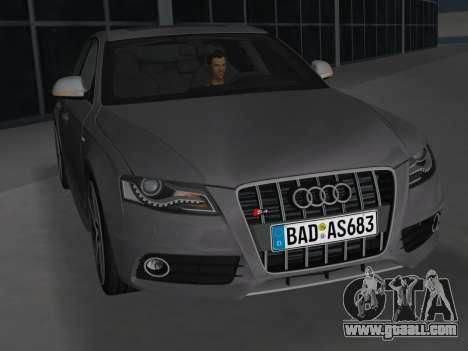 Audi S4 (B8) 2010 - Metallischen for GTA Vice City inner view