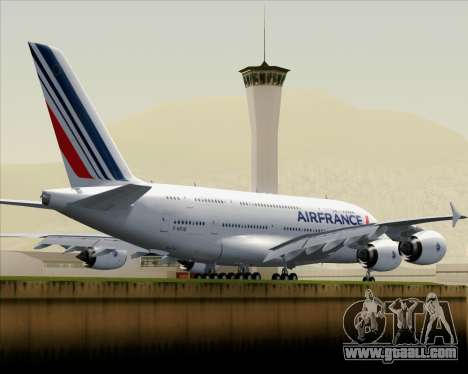 Airbus A380-861 Air France for GTA San Andreas back view