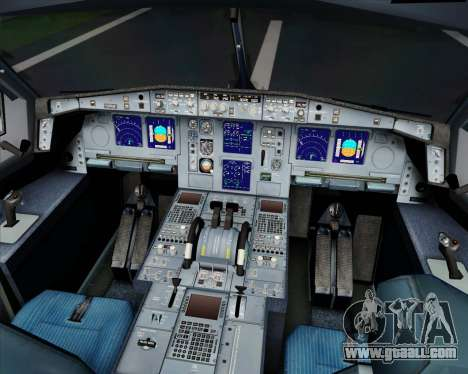 Airbus A340-313 SriLankan Airlines for GTA San Andreas upper view