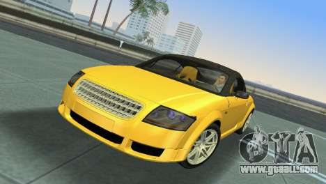 Audi TT Coupe BiMotor Black Revel for GTA Vice City left view