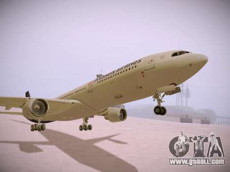 Airbus A330-300 Brussels Airlines for GTA San Andreas upper view