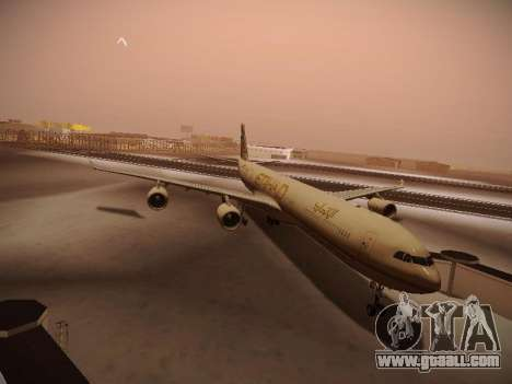 Airbus A340-600 Etihad Airways for GTA San Andreas left view
