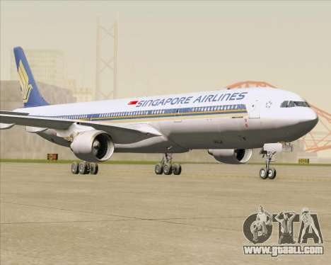 Airbus A330-300 Singapore Airlines for GTA San Andreas left view