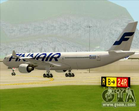 Airbus A330-300 Finnair (Current Livery) for GTA San Andreas back view