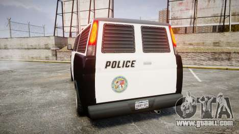 Declasse Burrito Police for GTA 4 back left view