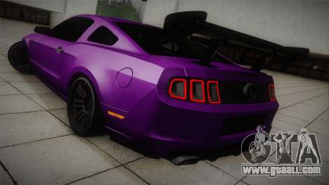 Ford Mustang Boss 302 2013 Road Version for GTA San Andreas back left view