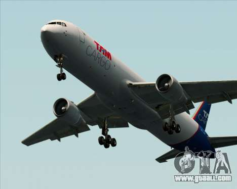 Boeing 767-300ER F TAM Cargo for GTA San Andreas back left view