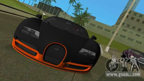 Bugatti Veyron Super Sport for GTA Vice City left view