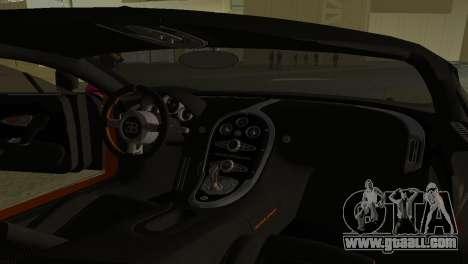 Bugatti Veyron Super Sport for GTA Vice City inner view