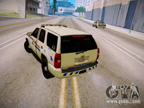 Chevrolet Tahoe 2007 RCMP for GTA San Andreas right view
