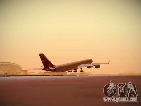 Airbus A340-600 Qatar Airways for GTA San Andreas side view