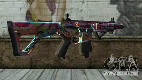 Graffiti Assault rifle v2 for GTA San Andreas second screenshot