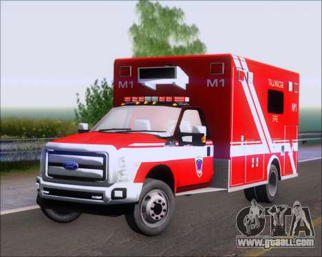Ford F-350 Super Duty TFD Medic 1 for GTA San Andreas left view
