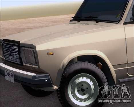 LADA 2107 for GTA San Andreas