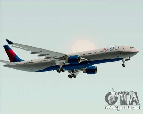 Airbus A330-300 Delta Airlines for GTA San Andreas back view