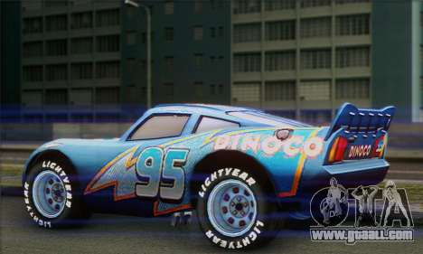 Lightning McQueen Dinoco for GTA San Andreas left view