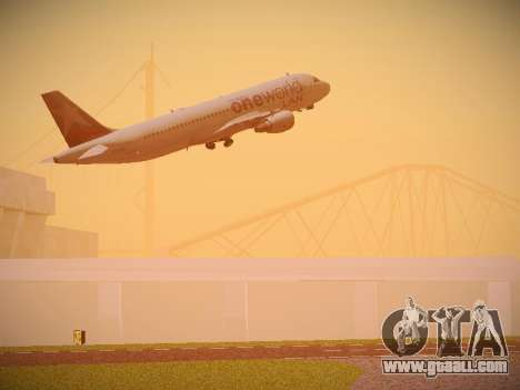 Airbus A320-214 LAN Oneworld for GTA San Andreas interior