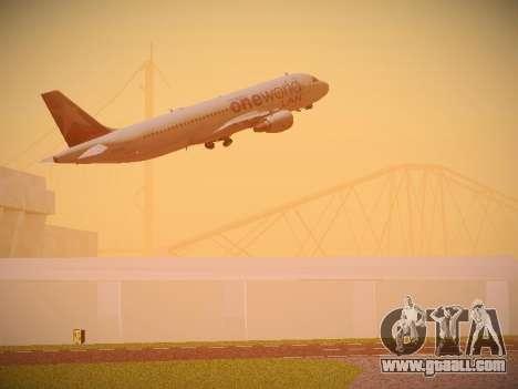 Airbus A320-214 LAN Oneworld for GTA San Andreas interior
