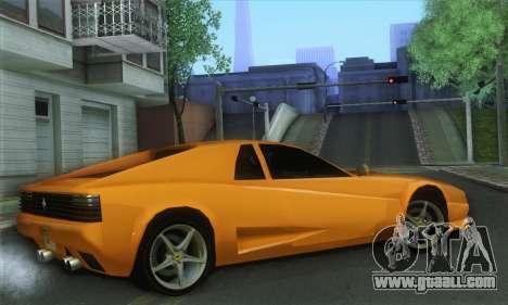 Cheetah Testarossa for GTA San Andreas left view