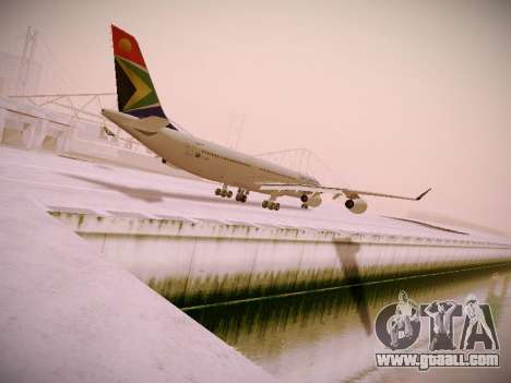Airbus A340-300 South African Airways for GTA San Andreas back left view