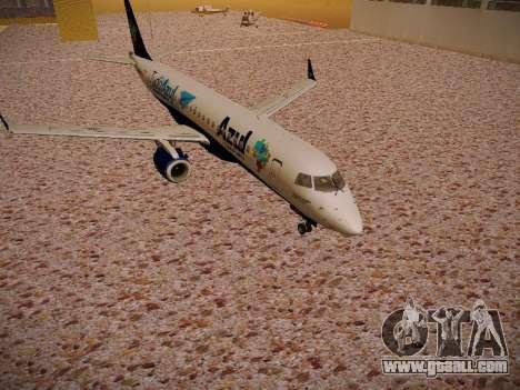 Embraer E190 Azul Tudo Azul for GTA San Andreas left view