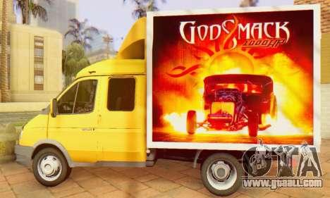 33023 GAZelle Godsmack - has 1000hp (2014) for GTA San Andreas right view