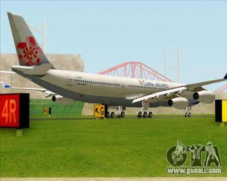 Airbus A340-313 China Airlines for GTA San Andreas back left view