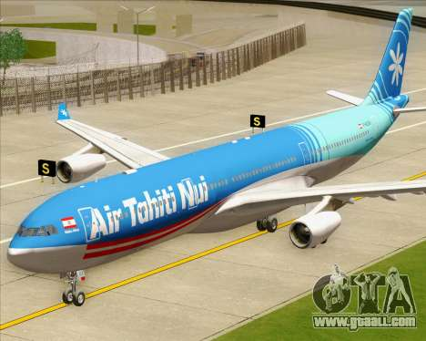 Airbus A340-313 Air Tahiti Nui for GTA San Andreas back view
