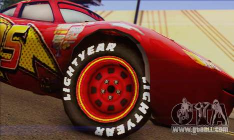 Lightning McQueen for GTA San Andreas back left view