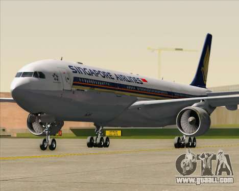 Airbus A330-300 Singapore Airlines for GTA San Andreas bottom view