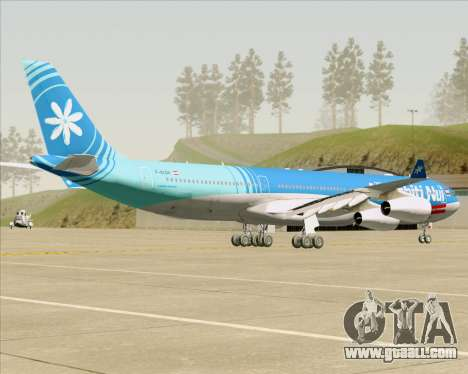 Airbus A340-313 Air Tahiti Nui for GTA San Andreas right view