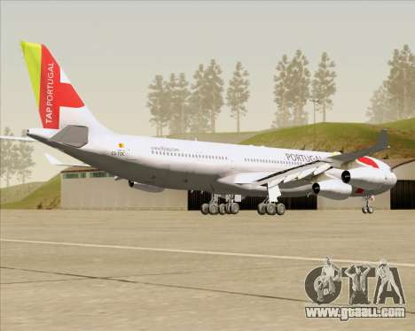 Airbus A340-312 TAP Portugal for GTA San Andreas right view
