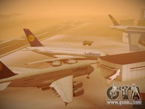 Airbus A380-800 Lufthansa for GTA San Andreas bottom view