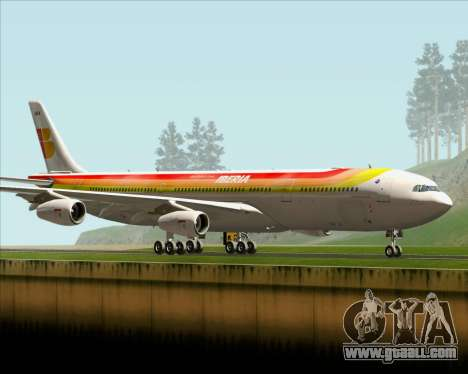 Airbus A340 -313 Iberia for GTA San Andreas back left view