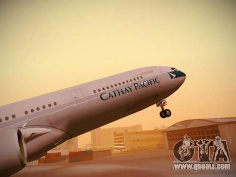 Airbus A340-300 Cathay Pacific for GTA San Andreas wheels