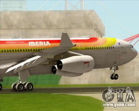 Airbus A340 -313 Iberia for GTA San Andreas engine
