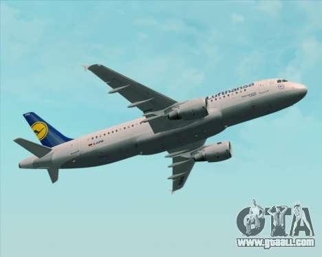 Airbus A320-211 Lufthansa for GTA San Andreas wheels
