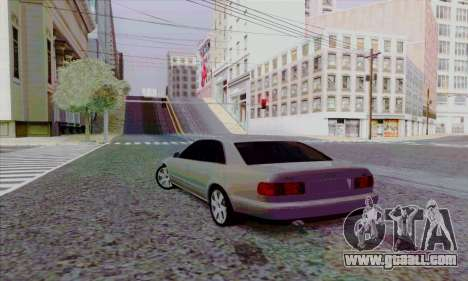 Audi A8 for GTA San Andreas back view