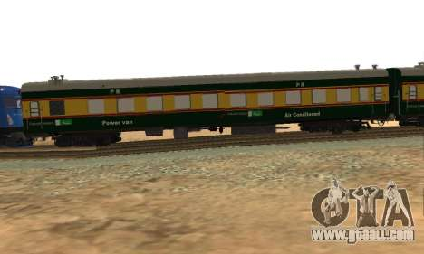 Pakistan Railways Train for GTA San Andreas back left view