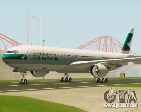 Airbus A330-300 Cathay Pacific for GTA San Andreas left view