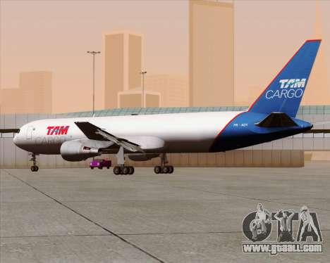 Boeing 767-300ER F TAM Cargo for GTA San Andreas inner view