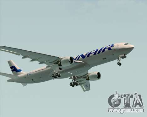 Airbus A330-300 Finnair (Current Livery) for GTA San Andreas upper view
