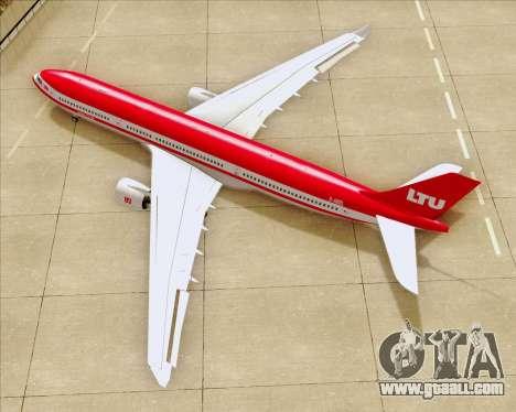 Airbus A330-300 LTU International for GTA San Andreas upper view
