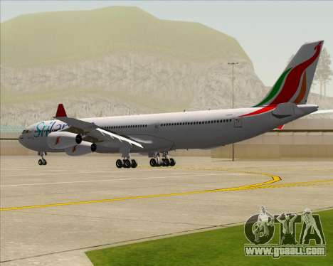 Airbus A340-313 SriLankan Airlines for GTA San Andreas right view